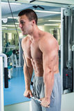 Physical exercise in the gym Royalty Free Stock Photography