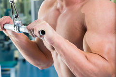 Physical exercise in the gym Stock Photo
