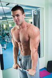 Physical exercise in the gym Stock Photos
