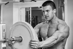 Physical exercise in the gym Stock Photography