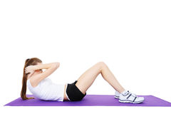 Physical exercises of fitness Stock Photography