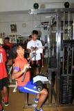Physical exercises Stock Photo