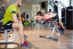 Physical exercising Royalty Free Stock Image