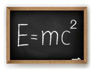 Physical formula on blackboard Royalty Free Stock Photos