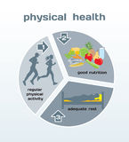 Physical Health infographic Royalty Free Stock Photography