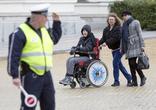 Physical Impairment (Disabled) people protest Stock Photography