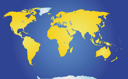Physical map of the world Royalty Free Stock Photo