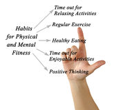 Physical and Mental Fitness. Habits for Physical and Mental Fitness Royalty Free Stock Image