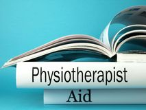 Physical therapy books Royalty Free Stock Images
