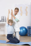 Physical therapy for children Stock Images