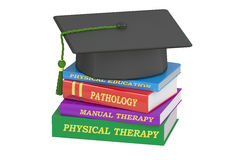 Physical therapy education, 3D rendering. On white background Stock Photography