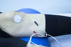 Physical therapy electrical physiotherapy Royalty Free Stock Photography