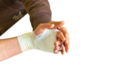 Physical therapy after a hand injury Stock Image