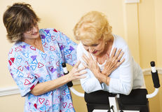 Physical Therapy - Help From Nurse Stock Image