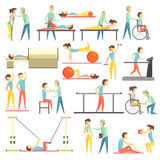 Physical Therapy Infographic Illustration Stock Image