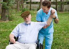 Physical Therapy Outdoors Royalty Free Stock Photos
