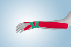 Physical Therapy tape on hand. Royalty Free Stock Image