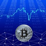 An image with a bitcoin sign. Stock Image
