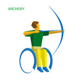 Physically disabled archer Stock Photos