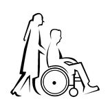 Physically disabled Royalty Free Stock Images