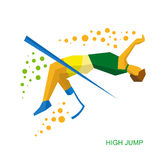 Physically disabled jumping athlete. Royalty Free Stock Images