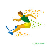 Physically disabled jumping athlete.  Stock Photo
