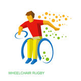 Physically disabled rugby player. Stock Photography