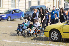 Physically and mentally disabled people Royalty Free Stock Images