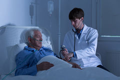 Physician and blood pressure Royalty Free Stock Images