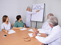 Physician giving presentation to team Stock Photography