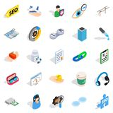 Physician icons set, isometric style. Physician icons set. Isometric set of 25 physician vector icons for web  on white background Royalty Free Stock Photos