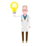 Physician with lamp Stock Photography