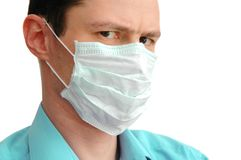 Physician in mask Royalty Free Stock Images