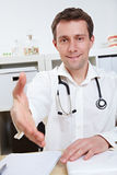 Physician offering hand for Stock Photo
