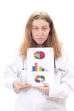 Physician presenting results of research Stock Image