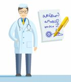 Physician, profession, colour illustrations. Royalty Free Stock Photos