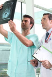 Physician and radiologist Stock Image