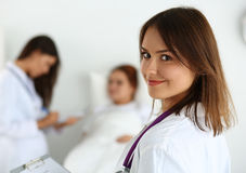 Physician ready to examine and help Royalty Free Stock Photography