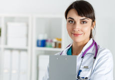 Physician reception concept Stock Image