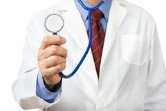 Physician with stethoscope. Ready to check patient Royalty Free Stock Image