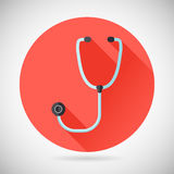 Physician Therapist Care Survey Symbol Stethoscope Royalty Free Stock Image