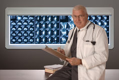 Physician on white Stock Images