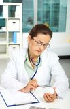 Physician at work Stock Photos