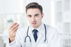 Physician at work Royalty Free Stock Photos