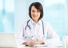 Physician at workplace Royalty Free Stock Images