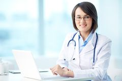 Physician at workplace Royalty Free Stock Image