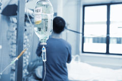 Physician works with critically ill patients Stock Photos
