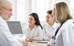 Physicians. Modern physicians analyzing their work Stock Photography