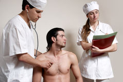 Physicians emergency with the patient Royalty Free Stock Photos