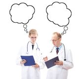 Physicians thinking about solution Stock Photos